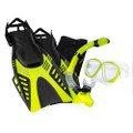 Aqua Leisure Dyna Adult 5-Piece Dive Set - Adult Size M\/L Mens 4.5-8.5\/Ladies 5.5-9.5 [DPX18230S3M]