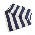 Whitecap Seat Cushion Set f\/Directors Chair - Navy  White Stripes [97240]