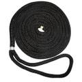 "New England Ropes 1\/2"" X 15 Nylon Double Braid Dock Line - Black [C5054-16-00015]"
