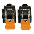 "CargoBuckle Mini G3 Retractable Ratchet Tie-Down - 1"" x 72"" Pair [F103745]"
