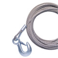 """Powerwinch 40' x 7\/32"""" Replacement Galvanized Cable w\/Hook f\/RC30, RC23, 712A, 912, 915, T2400 & AP3500 [P7188800AJ]"""