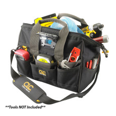 "CLC L230 Tech Gear LED Lighted 14"" Bigmouth Tool Bag [L230]"