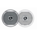 "JENSEN  MSX65R 6.5"" High Performance Coaxial Speaker - (Pair) White\/Silver Grills [MSX65R]"