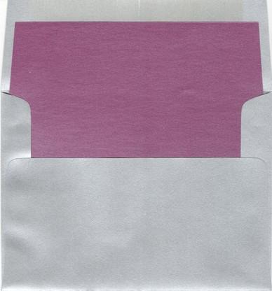A6 Square Flap Metallic Envelope liner