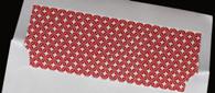 Pattern Envelope Liners - Red Geometric Pattern