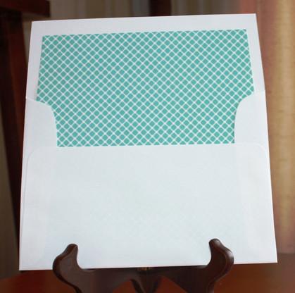 tiffany blue envelope liners