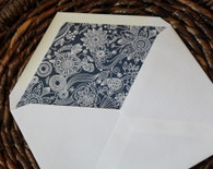 patterned pointed flap envelope liners