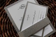Silver Glitter Invitation Mat