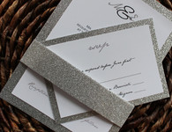 Glitter Invitation Backing for response card