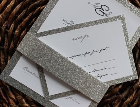 Glitter Invitation Backing for response card