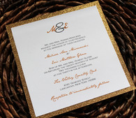 Gold Glitter Invitation Backing