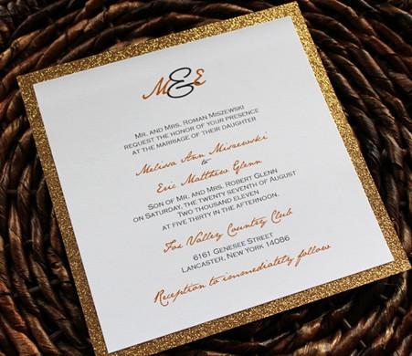 Gold Glitter Invitation Backing