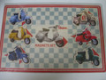 VESPA COLLECTABLE SET OF 6 SCOOTER MAGNETS