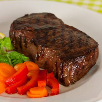 Choice Top Sirloin Strips that have been aged for tenderness and flavor. As with all our steaks, there are NO additives, preservatives or any chemicals ever added.