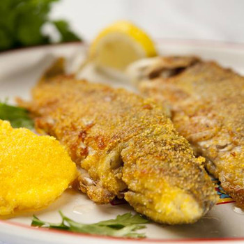 This mild fish is coated with pecan pieces and enhanced with rich butter and herbs.