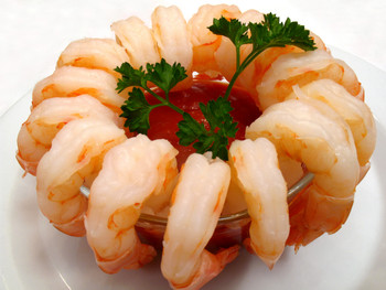 Gourmet Cocktail Shrimp  They're perfectly cooked, already peeled and deveined so all you do is thaw  them under cold water to serve with your favorite cocktail sauce.