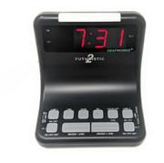 Futuristic2 Flashing Dual Alarm Clock w/2 Lamp Outlets