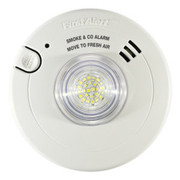 BRK Photoelectric T3 Smoke Alarm / Carbon Monoxide T4 Alarm with LED Strobe and 10-Year Battery Back-up