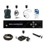 Williams Sound FM Plus Large-area Dual FM and WiFi Assistive Listening System w/ Professional Installation Kit