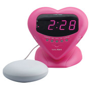 Sonic Boom SBH400SS Sweetheart Alarm Clock w/12V Bed Shaker