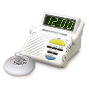 Sonic Boom Clock w/ Lamp Outlet and 12V Pillow Vibrator