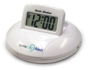 Sonic Shaker Vibrating Portable Travel Clock