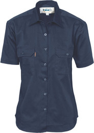3231 - Ladies Cotton Drill Work Shirt, S/S