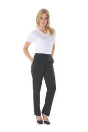 4552 - Ladies Permanent Press Flat Front Pants