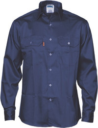 3402 - 190gsm Flame Retardant Drill Shirt, L/S