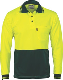 3813 - 175gsm HiVis Cool Breathe Polo, L/S
