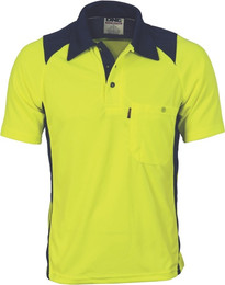 3893 - 175gsm HiVis Action Polo Shirt, S/S
