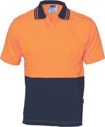 3905 - 200gsm HiVis Jersey Food Industry Polo, S/S