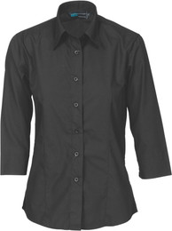 4203 - Ladies Poly Cotton Shirt, 3/4 Sleeve