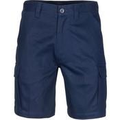 3358 - Middle Weight Cotton Double Slant Cargo Shorts - With Shorter Leg Length