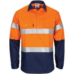 3407 - Patron Saint Flame Retardant 2 Tone Closed Front Cotton Shirt with 3M F/R Tape - L/S