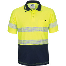 3517 HIVIS Segment Taped Cotton Backed Polo - Short Sleeve