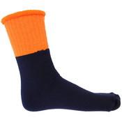 S105 - HiVis 2 Tone Woolen Socks - 3 pair pack