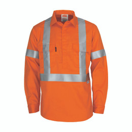 "3408 - Patron saint flame retardant arc rated closed front shirt with ""X"" back 3M F/R R/tape - L/S"