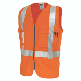 3810 - Day/Night Cross Back Cotton Safety Vests