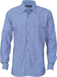 4104 - 155gsm Cotton Chambray Shirt, L/S