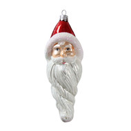 Handcrafted Christmas ornament Santa with long beard