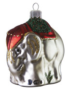 Handcrafted Christmas ornament Royal elephant Christmas ornament by GLASSOR.