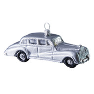 Hand crafted Christmas ornament Silver vintage car