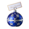 Blue adorned table ball Christmas ornament