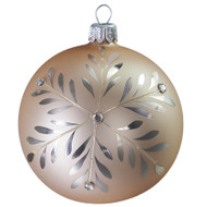 Hand crafted Christmas ornament Silver snowflake ball - large