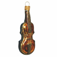 Violin Christmas ornament made of glass for music lovers