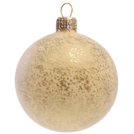 Christmas Decoration Cream Ball with Gold Décor