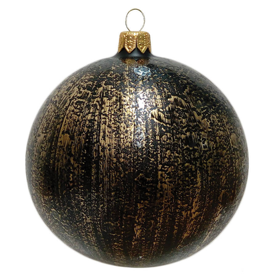 Black Christmas Ornaments.Black Christmas Ball With Gold Decor By Glassor