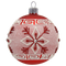 Red Glass Bauble with Snowflake Décor, mouth-blown and hand-painted Christmas Decoration by GLASSOR.