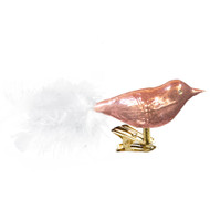 Glass Bird Ornament in Pink Color handcrafted by GLASSOR artisans.